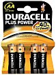 Pack de Pilas Alcalinas Uso Frecuente Lr06 (aa) Plus 4 ud Duracell