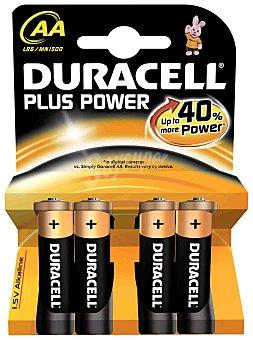 Duracell Pack de Pilas Alcalinas Uso Frecuente Lr06 (aa) Plus 4 ud