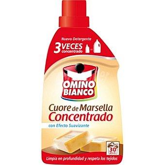 Omino Bianco Detergente máquina líquido concentrado Marsella con efecto suavizante Botella 25 dosis