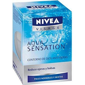 Nivea Crema contorno de ojos cuidado anti-ojeras piel normal/mixta Visage Aqua Sensation Tarro 15 ml