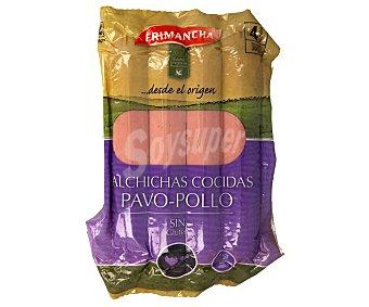 Frimancha Salchichas cocidas y ahumadas de pavo y pollo, sin gluten 300 g