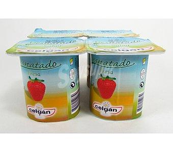 Celgan Yogur desnatado fresa Pack 4x125 grs