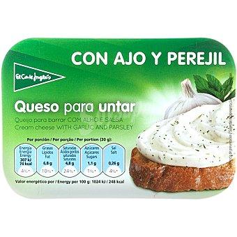EL CORTE INGLES queso crema con ajo y perejil envase 125 g