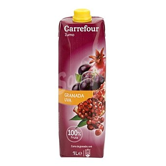 Carrefour Zumo de granada y uva 1 l