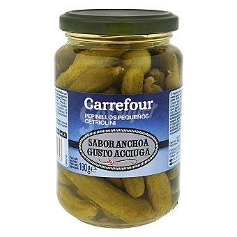 Carrefour Pepinillos en vinagre sabor anchoa 180 g