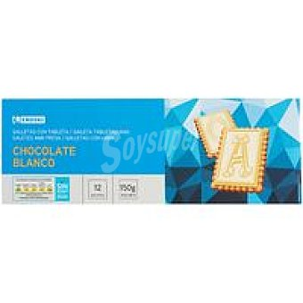 Eroski Galleta con chocolate blanco Caja 150 g