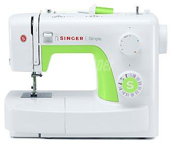 SINGER SIMPLE 3229, 29 Máquina de coser puntadas, brazo libre, largo y ancho de puntada ajustable, devanador automático, ojalador en cuatro pasos, luz de costura