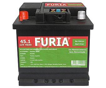 FURIA Batería de automóvil de 12V y 45 Ah, con potencia de arranque de 400 Amperios 1 unidad