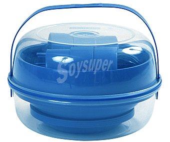 Curver Set de camping fabricado en plástico de color azul 1 unidad