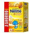 8 Cereales con miel papilla instantanea desde 6 meses paquete 900 g Nestlé Papillas