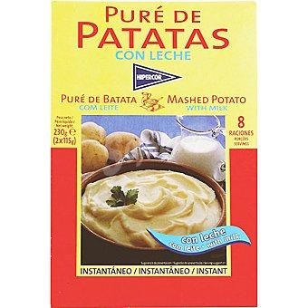 Hipercor Puré de patata con leche Estuche 230 g