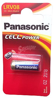 Panasonic Pila alcalina RLV08 (mando a distancia) 1 unidad