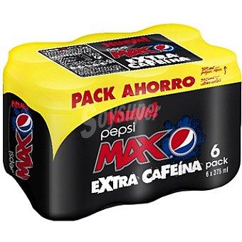Pepsi Extra cafeína Pack 6 lata 37,5 cl