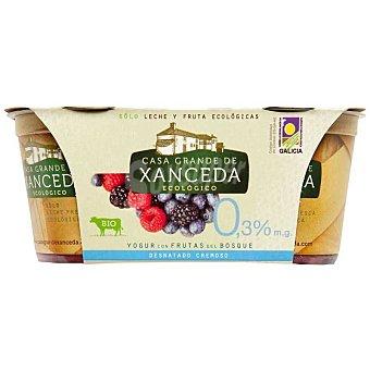 Xanceda Yogur con frutos del bosque desnatado ecológico Pack 2x125g