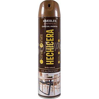 Hechicera Limpia muebles especial madera con ceras naturales brillo protector Spray 300 ml