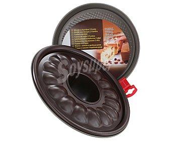 Auchan Molde de aluminio antiadherente para tartas, bizcochos...desmontable para fácil desmoldado, 24 centímetros de diámetro 1 Unidad