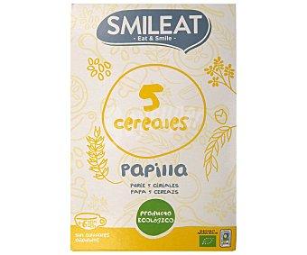 Smileat Papilla 5 cereales ecológica desde 6 meses  Caja 230 g