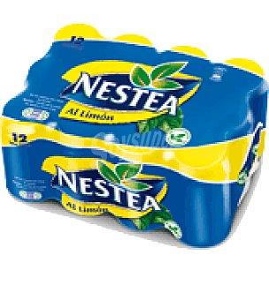Nestea Bebida refrescante de té al limón Pack de 12 latas de 33 cl