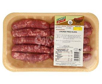 CAMPOGRIL Longaniza blanca fresca sin gluten, elaborado a partir de carne de cerdo 400 Gramos