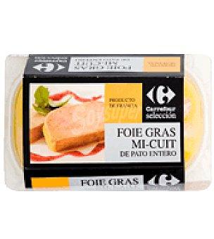 Carrefour Selección Foie gras entier micuit de pato Bandeja de 300 g