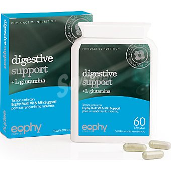EOPHY Digestive Support + L Glutamina complemento alimenticio Envase 60 capsulas