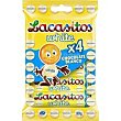 Grageas de chocolate blanco pack 4x20 g Lacasitos Lacasa