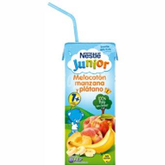 Junior Nestlé Smoothie de melocotón-manzana-plátano Brik 200 m
