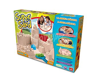 Goliath Juego para moldear Super Sand Castillos, con 4 moldes y de arena Super Sand GOLIATH. 900 gramos