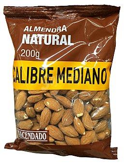 Hacendado Almendra natural con piel calibre mediano Paquete de 200 g