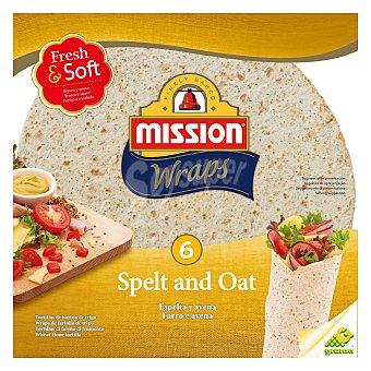 MISSION Wraps de espelta y avena 6 ud