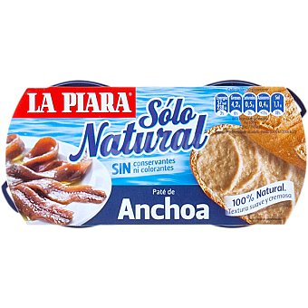 La Piara Sólo Natural Paté de anchoa 168 g