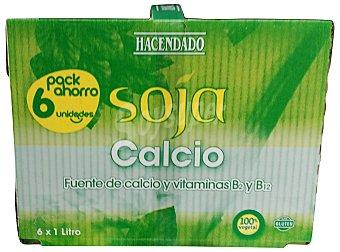 Hacendado Bebida soja calcio 6 unidades de 1 L (6 L)