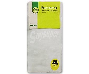 Productos Económicos Alcampo Sábana encimera color blanco para cama doble, 135 ó 150 centímetros 1 unidad