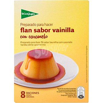 El Corte Inglés preparado para hacer flan sabor vainilla con caramelo 8 raciones estuche 130 g