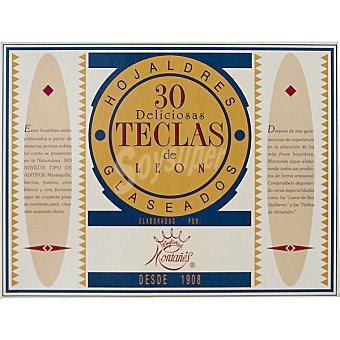 MONTAÑES Teclas de Leon hojaldres glaseados estuche 330 g 30 unidades