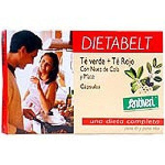 SANTIVERI DIETABELT té verde + té rojo con nuez de cola y mate en cápsulas Envase 24 g
