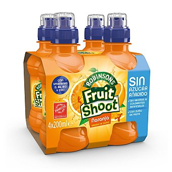 Robinson Zumo de naranja Fruit Shoot pack de 4x200 ml