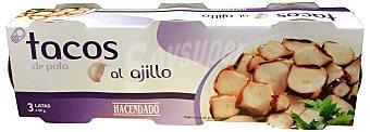 Hacendado Pota ajillo tacos Lata pack 3 (162 g escurrido)