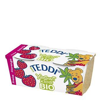Teddi Yogur de fresa kids bio Pack 2x115 g