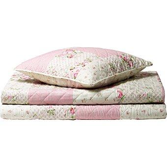 CASACTUAL Colcha Bouti Patchwork color rosa cama 135 cm