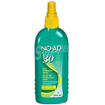 NO-AD Spray protector solar FP-30 ayuda a prevenir el envejecimiento prematuro de la piel tubo resistente al agua y al sudor Bote 250 ml