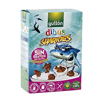 Gullón Galletas Mini sharkies cacao sin gluten Caja 250 g