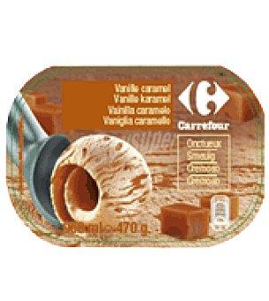 Carrefour Helado de vainilla caramelo 900 ml