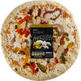 Eroski Seleqtia Pizza de verduras-pollo 1 unid
