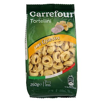Carrefour Tortellini al huevo rellenos de queso 250 g