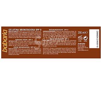 Babaria Gelatina bronceadora corporal con factor protección 0 200 mililitros