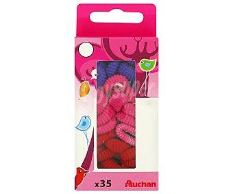 Auchan Gomas para el pelo de espuma 35 uds
