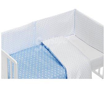 PisPas Coordinado de 3 piezas para cuna, compuesto por funda nórdica y juego de sábanas, azul, PISPAS.