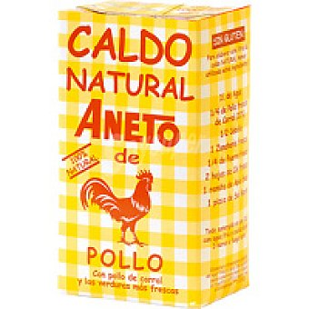 Aneto Caldo natural de pollo Brik 1 litro + 50%