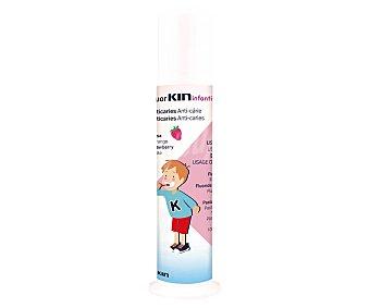 Kin Pasta de dientes infantil con flúor y xilitol y sabor a fresa 100 ml